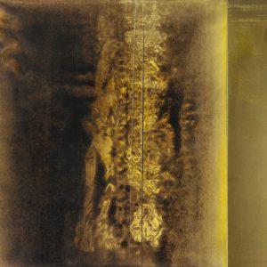 Franco Marrocco, Appena la polvere di metallo si posso sulla palpebra, lo sguardo si fece minaccioso, tecnica mista su tela, 102x134cm, 2010