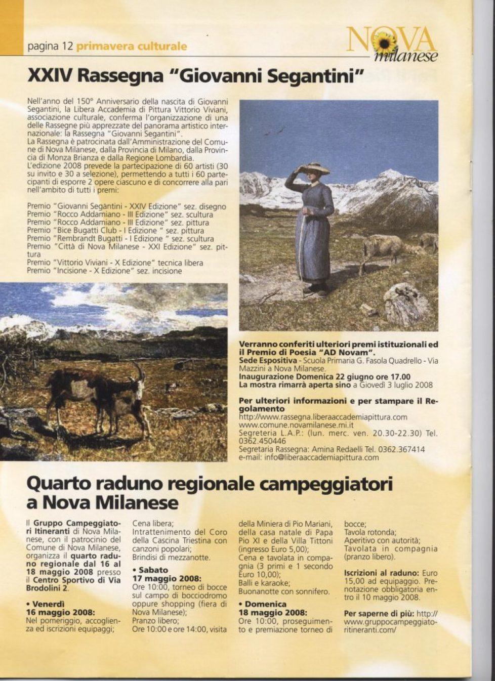 informatore comunale 2008 maggio premio segantini