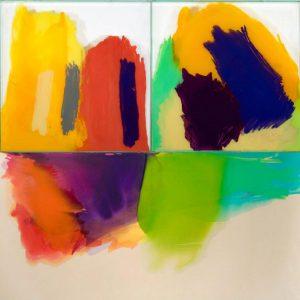 Italo Bressan, Home sweet home, olio su tela e colori su vetro, 200x200cm, 2008