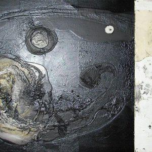 Julio César Soria Justo, Paisaje uterino 2, tecnica mista su tela