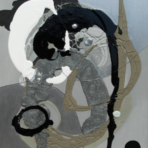 Julio César Soria Justo, Paisaje uterino 3, tecnica mista su tela
