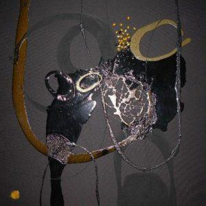 Julio César Soria Justo, Concepciòn de un NN, resina su lino plastificato, 100x90cm, s.d.