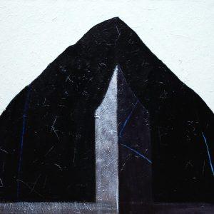 Pierantonio Verga, La casa del poeta, 2011, tecnica mista su tela cm 110x120