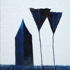 Pierantonio Verga, Può darsi ripassi un angelo, 2011, tecnica mista su tela, cm 80x100