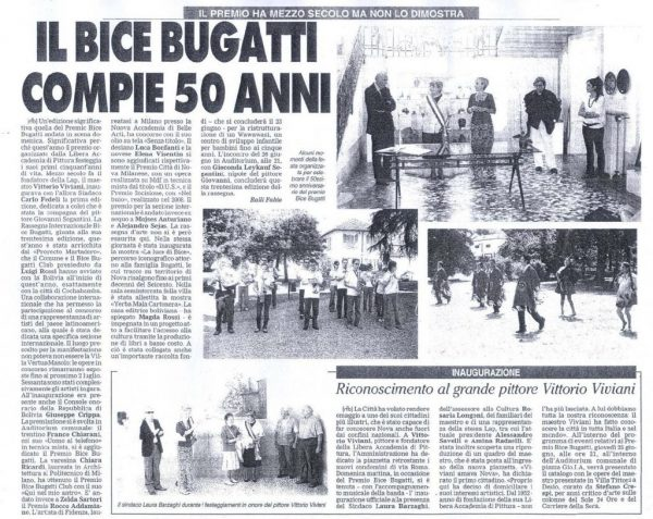2009 - 50 anni Premio Bugatti - articolo giornale di desio 16 giugno