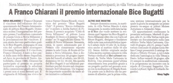2009 - Premio Bugatti a Chiarani - il cittadino 20 giugno