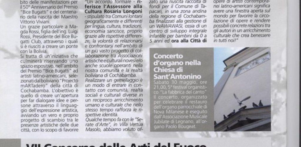 2009 aprile informatore comunale Nova Milanese