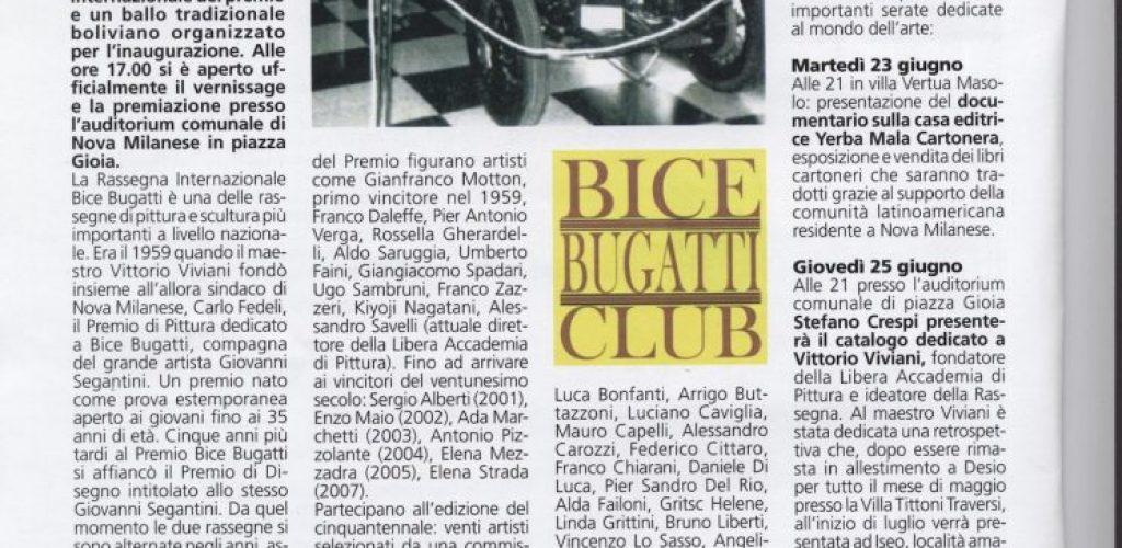 2009 giugno informatore comunale Nova Milanese Premio Bice Bugatti