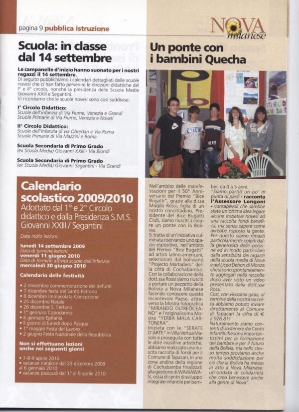 2009 ottobre informatore comunale Nova Milanese