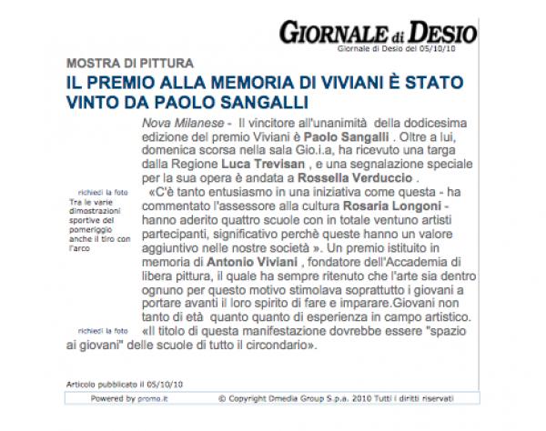 2010 ottobre 5 - Premio Viviani - Giornale di desio