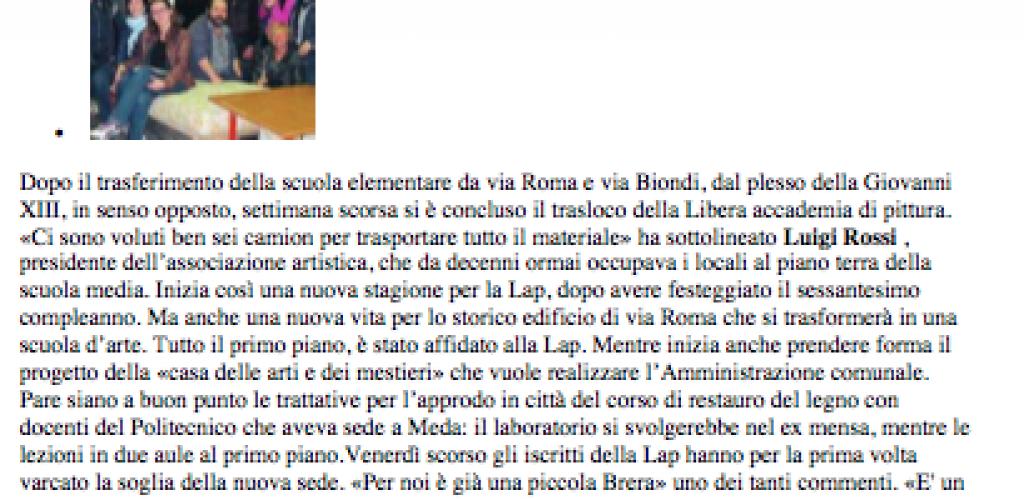 2013 ottobre 12 - annuncio Premio Bice Bugatti GS - il cittadino