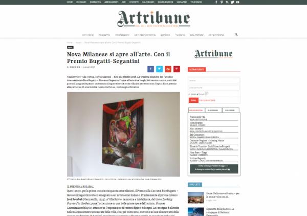 Articolo Artribune Premio BBGS 2016