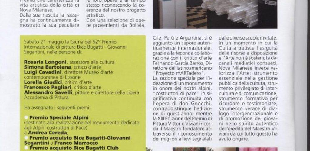 Informatore comunale Nova Milanese 2011 luglio premio bice bugatti giovanni segantini