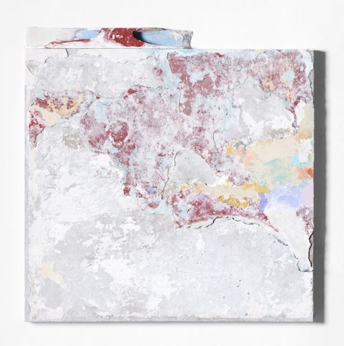 Franco Guerzoni, Piccola stanza, 2017, tecnica mista su tavola, cm71x70. Courtesy of Galleria Studio G7