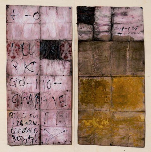 Renata Boero, Germinazioni, colori naturali su tela, cm 100x96, 2000