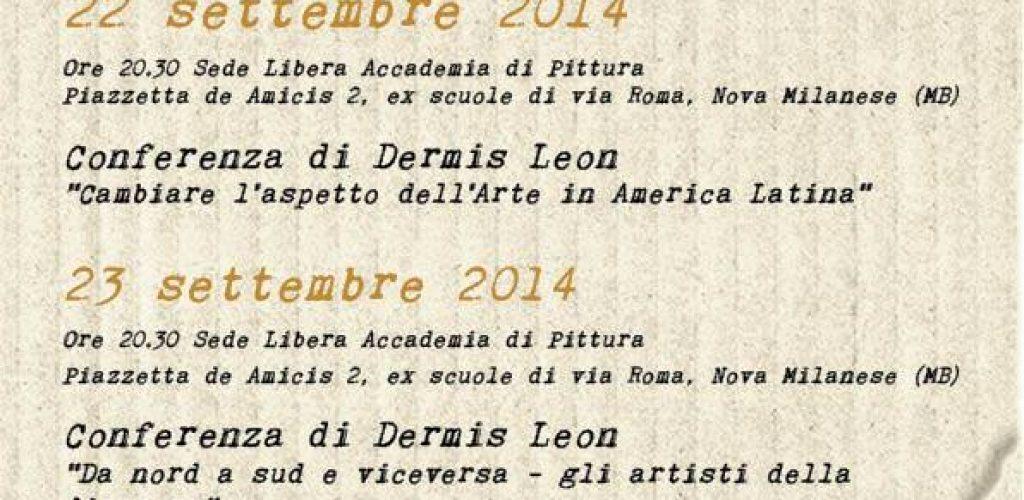 workshop Arte contemporanea latino americana - settembre 2014